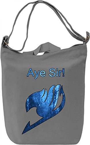 Aye Sir! Borsa Giornaliera Canvas Canvas Day Bag| 100% Premium Cotton Canvas| DTG Printing|