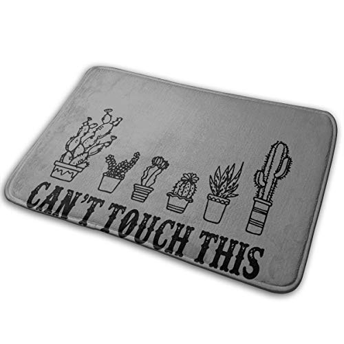 ANDER Doormat Can't Touch This Funny Cactus Bath Mat Non Slip Rug Bathroom Bedroom Entrance Carpet 16