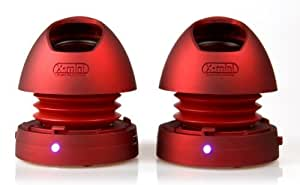 ALTAVOZ  X-MINI MAX v1.1 STEREO ROJO 2Wx2 BAT. LITIO