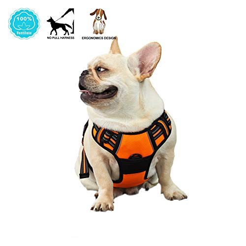 Cheap ANWA Dog Harness Adjustable Pet Vest Soft and Comfortable for Medium Size Dog No Pull Harness