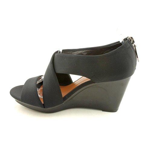 Donald J Pliner Aurora Femmes Taille 9.5 Sandales Compensées En Cuir Noir