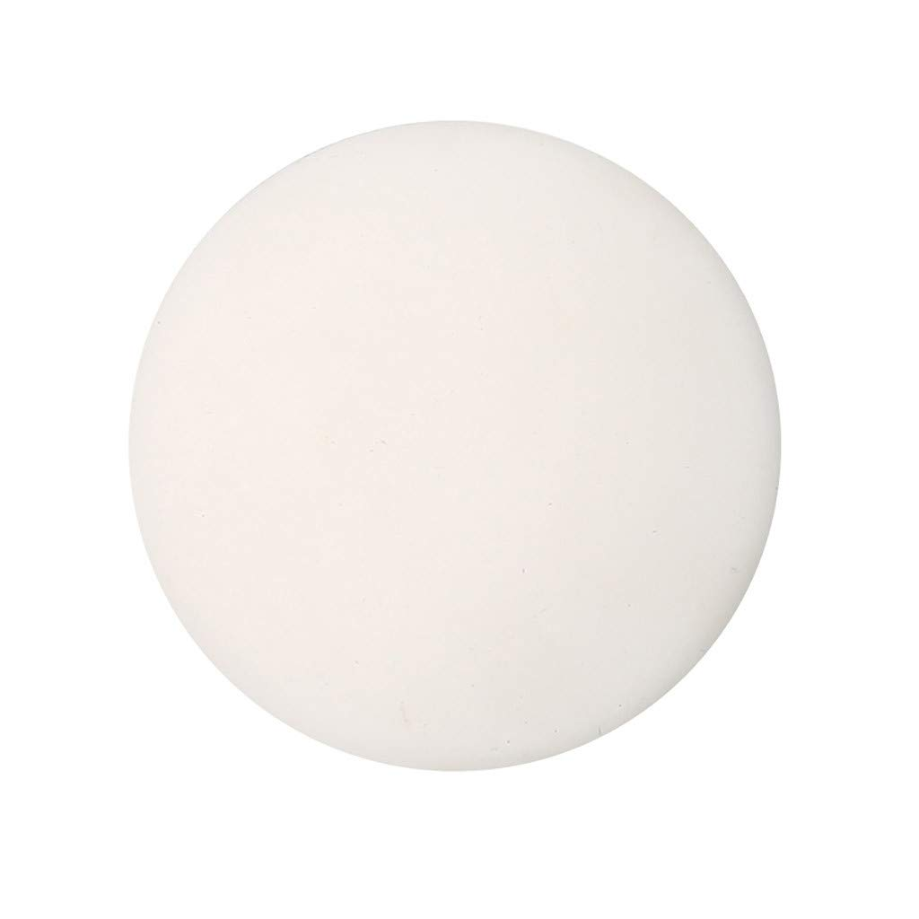 Door Knob Wall Shield, White Black Round Soft Rubber Wall Protector Shockproof Crash Pad Self-Adhesive Door Handle Bumper Door Stopper Pads, Tuscom (White)