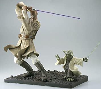 Star Wars Mace Windu Yoda 30cm Artfx Statue Amazonde Spielzeug