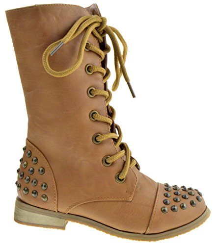 COCO Jumbo Abby 1 Little Girls Lace Up Studded Combat Boots Boots