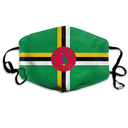 Unisex Mouth Mask Dominica Flag Reusable Mask