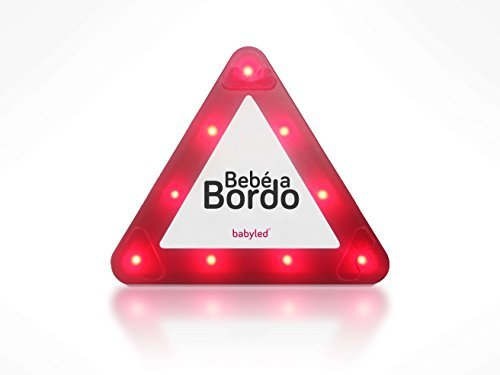 BabyLed - Señal LED de Bebé a Bordo como complemento de la silla de coche Patrimi Innovacion