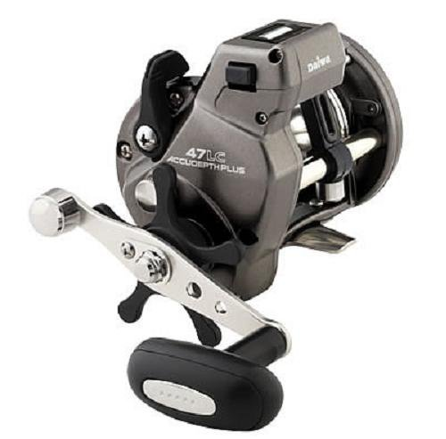 Daiwa Accudepth Plus Line Counter Levelwind Reel, Walleye Specialty with Dual Paddle Handle, Size 27