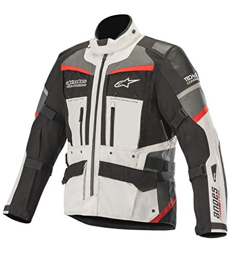 Andes Pro Drystar Waterpoof All-Weather Touring Motorcycle Jacket for Tech-Air Street Airbag System (3 XL, Light Gray Black Dark Gray -