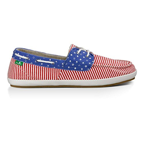 Sanuk Womens stripes Sailaway Boat Dots Shoe 2 America Patriot a6Barq