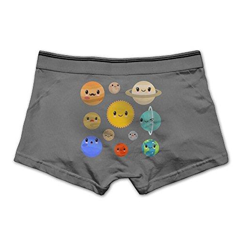 Men's Alien Planet Underwear Fashion Boxer Briefs Cotton Stretch Low Rise Trunks M - Stickers Eclipse Planet