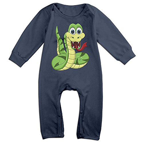 [VanillaBubble Snake Design For 6-24 Months Boys&Girls Best Baby Climbing Clothes Navy Size 6 M] (Best Dance Moms Costumes)