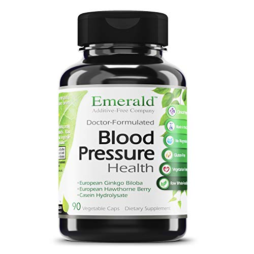 Blood Pressure Health – with European Ginkgo Biloba & Hawthorn Berry – Promotes Healthy Circulation, GI Health, Decrease Inflammation, & Stress Relief – Emerald Labs – 90 Vegetable Capsules