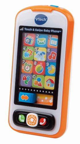 - VTech Touch and Swipe Baby Phone, Orange