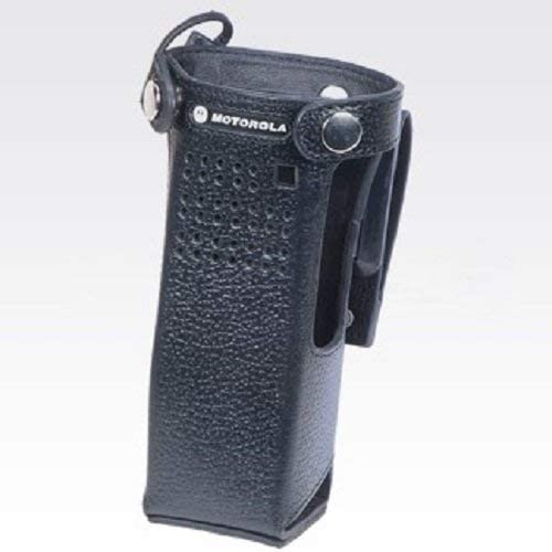 NNTN8111B – Motorola Leather Carry Case with 2.75 inch Swivel Belt Loop for Short Batteries