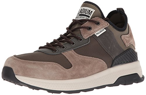 Palladium Men's AX Eon Army Runner Sneaker, Brown, 7.5 Medium US (Suede Footwear Brown Multi)