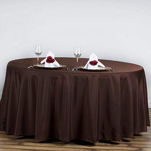 - Mikash 6 pcs 120 Round Polyester Tablecloths Wedding Linens Decoration Supplies | Model WDDNGDCRTN - 19260 |