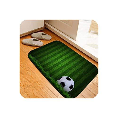 Modern Carpet 3D Football Area Rugs Flannel Rug Memory Foam Carpet Boys Kids Play Crawl Mat Big Rug Carpets for Home Living Room,No.05,40x60cm 16x24inch