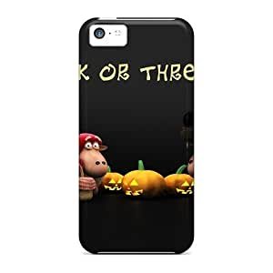 LJF phone case Durable Halloween Sheeps Trick Or Threat Back Case/cover For Iphone 5c