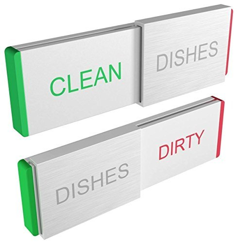 #LightningDeal 94% claimed: Dishwasher Magnet Clean Dirty Sign - Premium Kitchen Gadgets for Home and Office Organization Magnets Work on All Dishwashers - Glide Signs Indicator