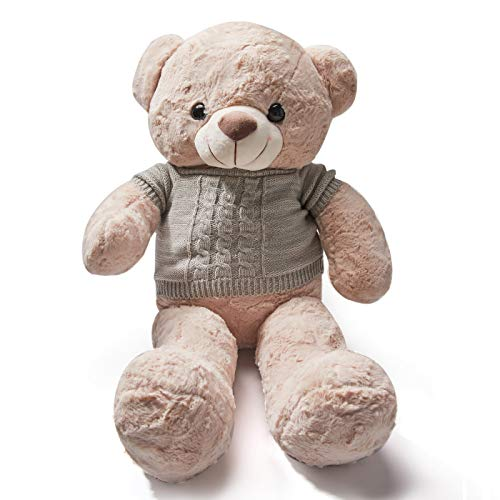 LOUJLU Teddy Bear Stuffed Animals Toys for Kids & Adults | Soft Plush | Removable Clothes | Smile Expression | with Two Colors 30
