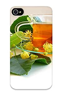 Hot Linden Tea First Grade Tpu Phone Case For Iphone 4/4s Case Cover