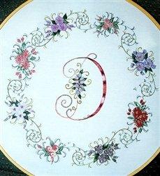 MonograMania - DK Designs Brazilian Embroidery pattern & fabric #3839