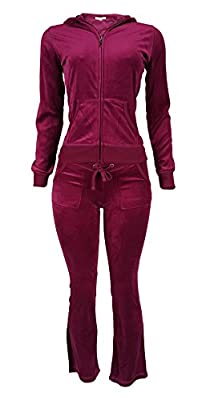 WOMEN'S FRENCH TERRY ACTIVEWEAR and Velour SUIT SET W/ ZIP UP HOODIE JACKET & PANTS