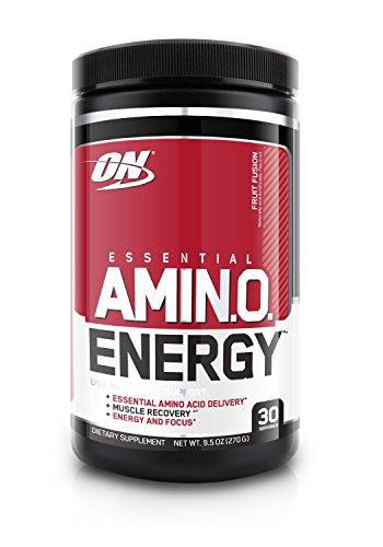 Optimum Nutrition Amino Energy with Green Tea and Green Coffee Extract, Preworkout and Essential Amino Acids, Fruit Fusion 30 Servings