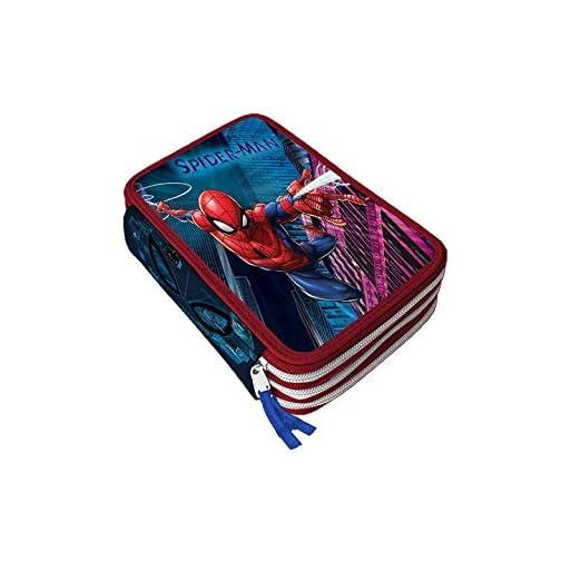 astuccio a tre scomparti - spiderman