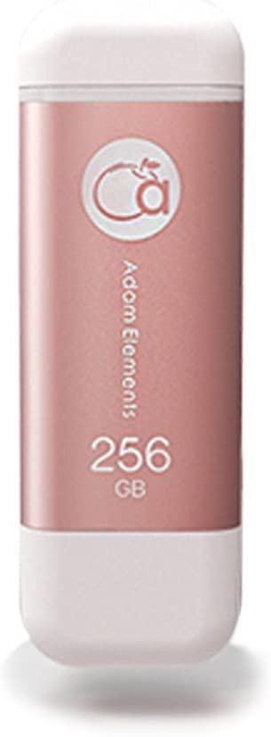 Adam Elements [iPhone/iPad Compatible Lightning/USB 3.0 Flash Drive 256GB MFi authentication] iKlips Apple Lightning Flash Drive Rose Gold ADRAD256GKLPRG