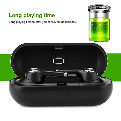 Instant Translator Device Smart Wireless Bluetooth Headset,ASHATA Waterproof 19 Language Translating Headphones Earpiece Earbuds with Dual Mic/Noise Reduction for Study Travel Busniess (Black) by ASHATA (Image #8)