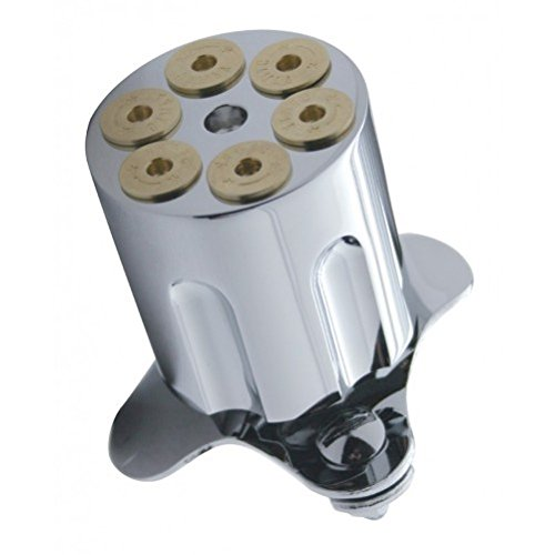 Chrome Metal Gun Barrel Steering Wheel Spinner Suicide Knob / Universal Bracket