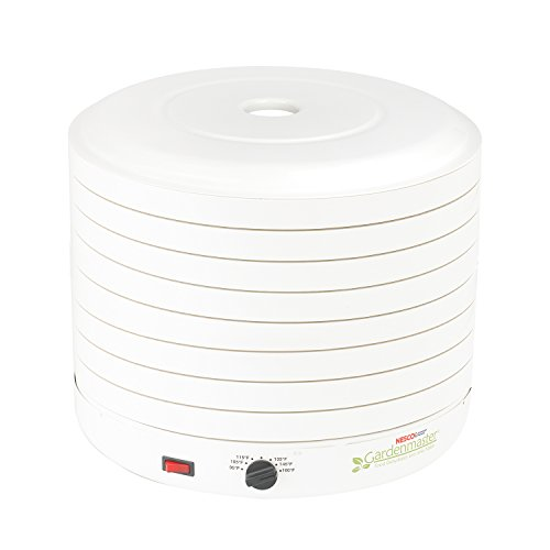 - NESCO FD-1018A, Gardenmaster Food Dehydrator, White, 1000 watts