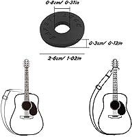 Candados para correa de guitarra (3 pares) y correa negra para ...