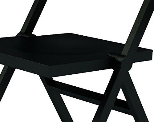 Alessi ASPN1017 Piana Chaise Pliante et Empilable en Pp Fibre de Verre, Noir, 52 x 46 x 90 cm