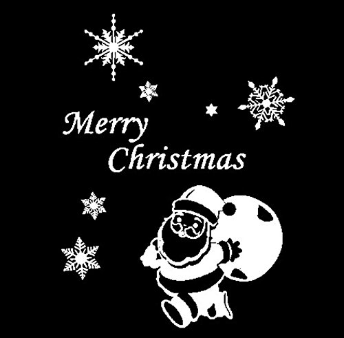 - Wall Stickers Wall Window Stickers Santa Claus Snowflake Christmas Xmas Vinyl Decals Home Garden Kitchen Accessories Decorative Stickers Wall murals