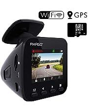 Dashcam Doppia Telecamera per Auto-AKASO 1080P,Camera Anteriore e Posteriore, Doppio SonyStarvis,Doppia Camera Registra a 1080p,Visione a 340 °, Visione Notturna,Modalità Parcheggio,G-Sensor.