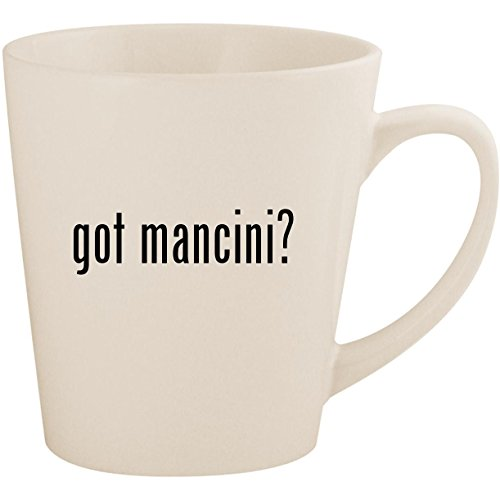 - got mancini? - White 12oz Ceramic Latte Mug Cup