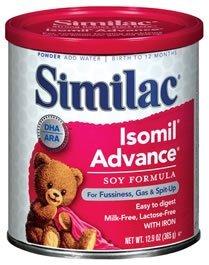 Similac Soy Isomil Infant Formula with Iron -- 12.4 oz