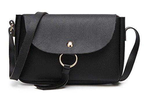 Mini Women Bag Shop Leather Crasy Pouch Single Ladies Cross Body PU Wallet Classic Black Cellphone Shoulder Bag n7UXffx
