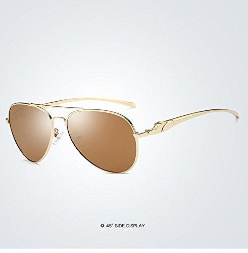 de 400 Miroir nbsp;Protection Homme Xinke Femme Lunettes métal en Objectif 5 polarisées UV Soleil aviateur pour 5nvwH6qxvO
