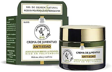 La Provençale Bio Crema Anti Edad de Día con Aceite de Oliva Bio Hidrata, Reafirma y Recupera la Elasticidad, 50 ml