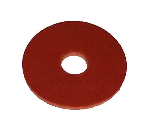 Herco 1'' OD x 1/4'' ID x 1/16 Thick Silicone Rubber Washer Gasket - 20 pcs