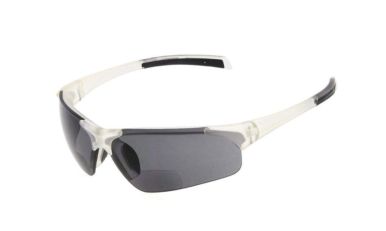 Eyekepper TR90 Unbreakable Sports Half-Rimless Bifocal Sunglasses Baseball Running Fishing Driving Golf Softball Hiking