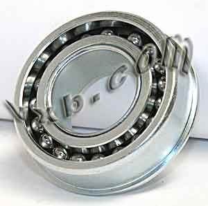 """F0824 Unground Flanged Full Complement 1//4/"""" x 3//4/"""" x 5//16/"""" Inch Ball Bearings"""