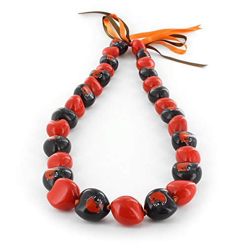 aminco NFL Cleveland Browns Kukui Nut Necklace, Orange/Brown ()