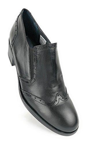 Zerimar Damen Leder Schuhe Bequeme Schuhe Frauen Schuh Weiches Leder Schuhe Lederschuhe Damen Schwarz55