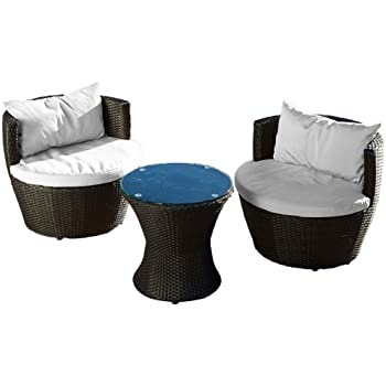 Amazon Com 6 Piece Stackable All Weather Modern Outdoor