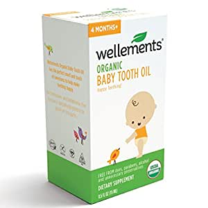 Wellements Baby Tooth Oil, 0.5 Fl Oz, Free From Dyes, Parabens, Alcohol, and Preservatives