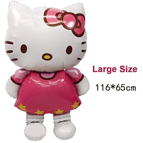 116 * 65 cm gran tamaño Hello Kitty Cat Foil Globos para ...